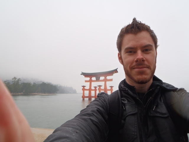 Me at the Torii gate on Miyajima!