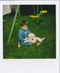 Me and my first dog Sonic!